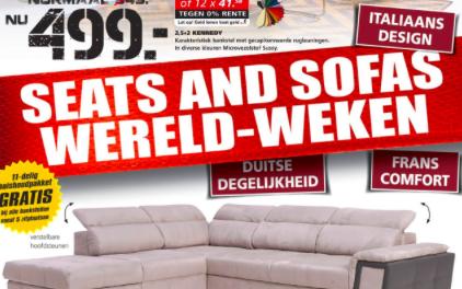 Boete van 350.000 euro voor Seats and Sofas
