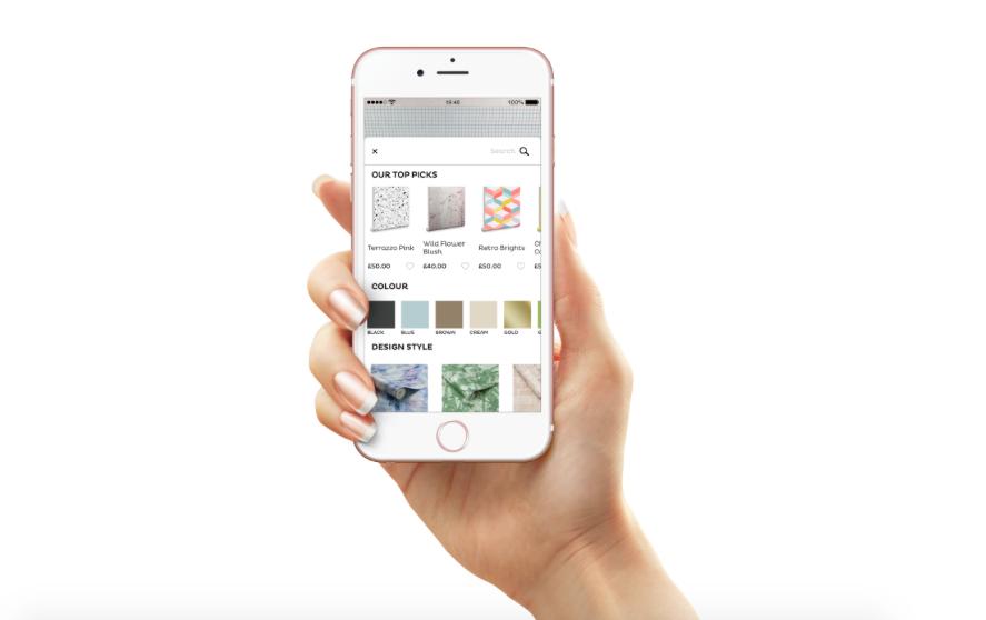 Graham & Brown komt met app om patronen en kleuren alvast op de muur te zien