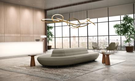 Gezien tijdens Orgatec:  Communicatie sofa van Walter Knoll
