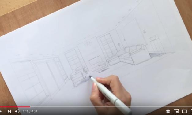 Olga Adler (Interiorsketch and styling) tekent een persoonlijk verhaal