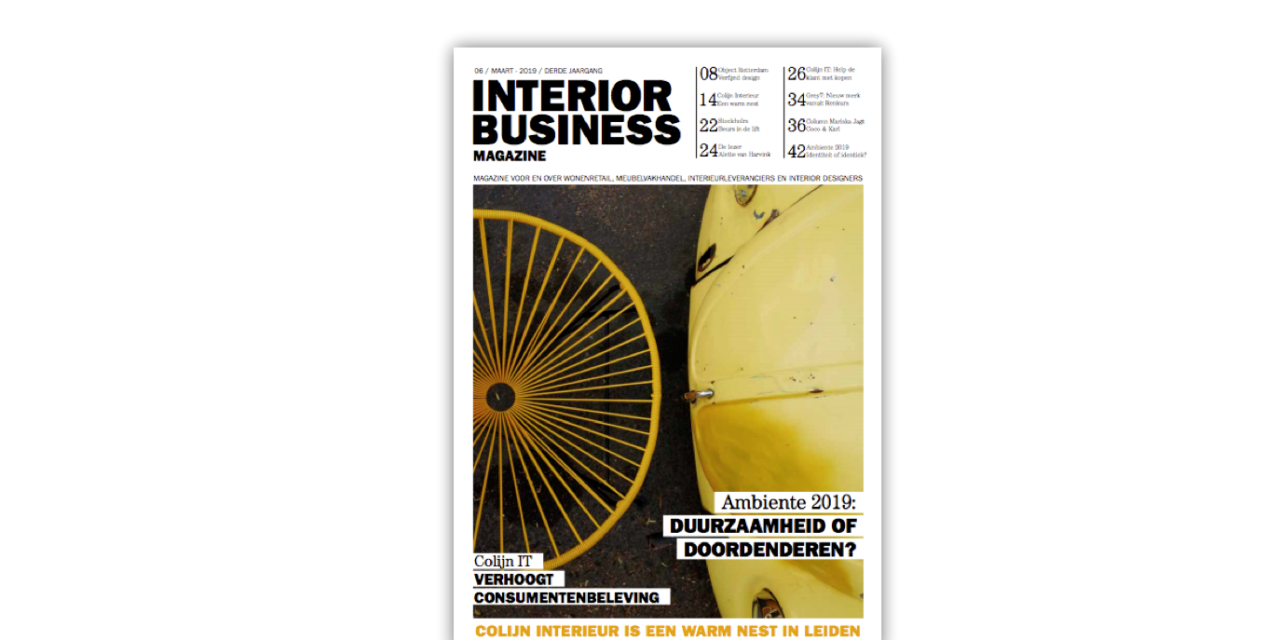 Deze week in Interior Business Magazine…