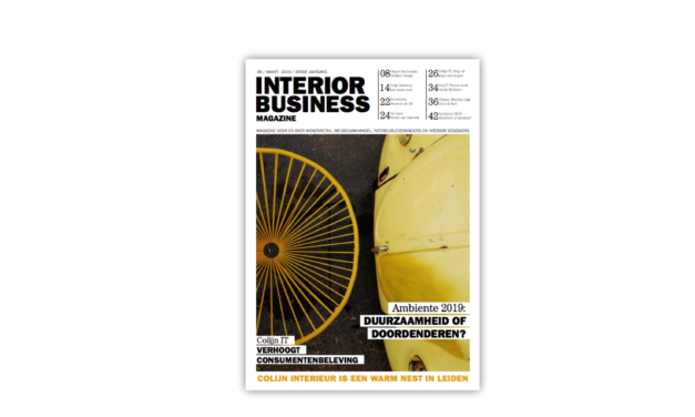 Deze week in Interior Business Magazine…