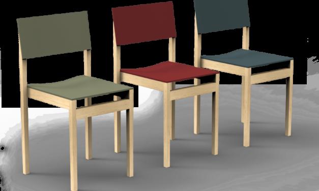 Lonc Slim: duurzame stoel met linoleum