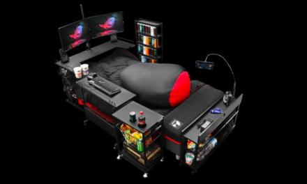 Meubelfabrikant kondigt super-de-luxe bed aan voor fanatieke gamers