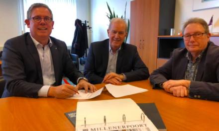 Millenerpoort tekent samenwerkingscontract over de grens