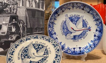 Royal Delft: speciaal bord voor 75 jaar vrijheid