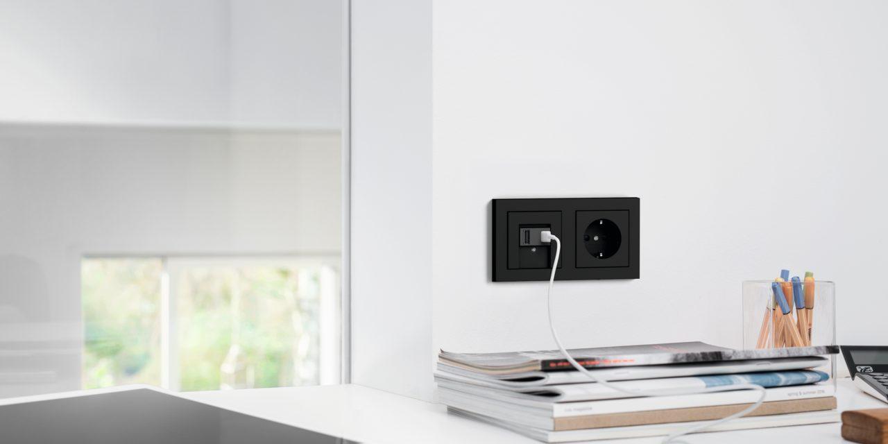Gira USB aansluitingen voor overal in huis