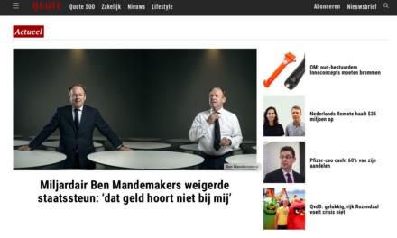 Ben Mandemakers van DMG: Nee tegen NOW