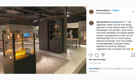 Ondertussen op de socials: Sneak preview nieuwe DWI showroom van BKS Meubelen