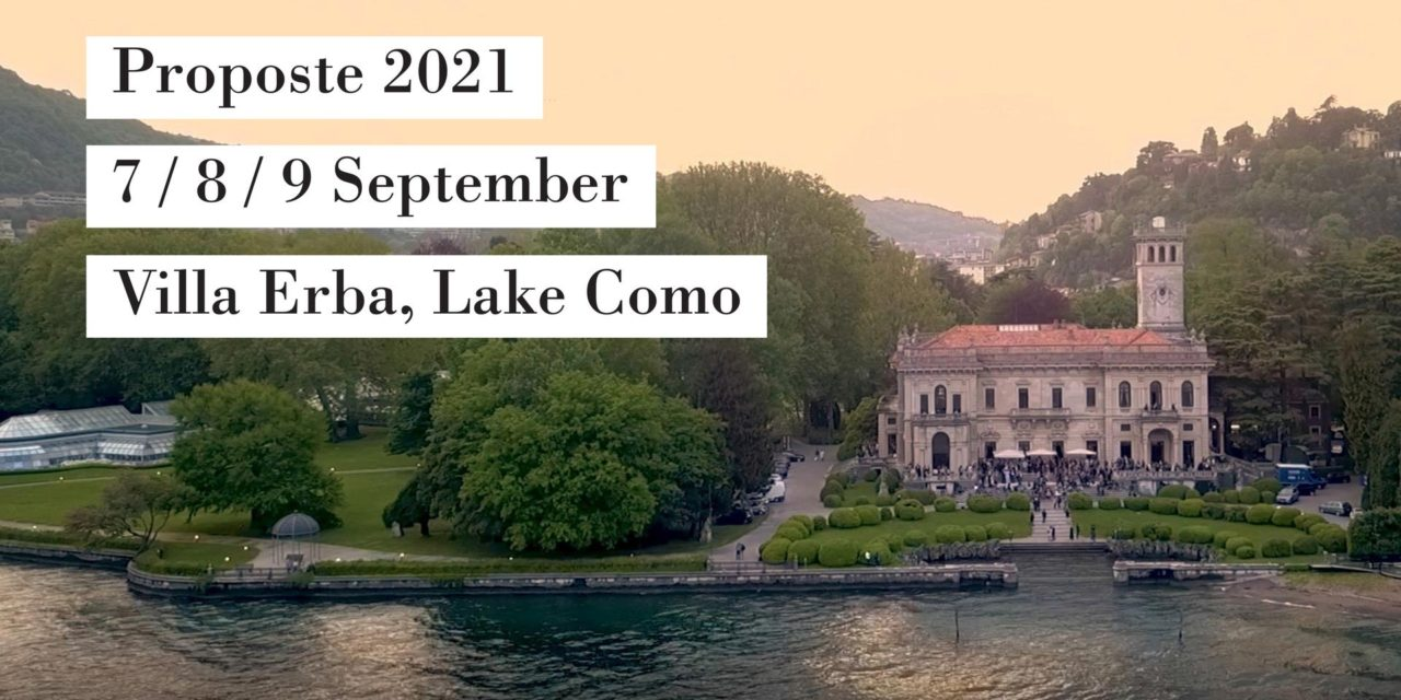 Proposte op 7, 8 en 9 september