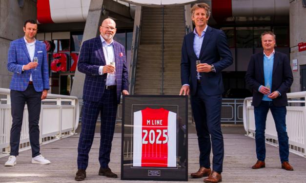 Partnership Mline en voetbalclub uit Amsterdam