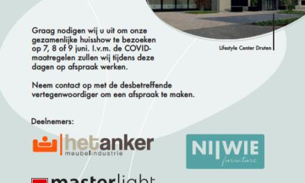 Huisshow in Lifestyle Center in Druten: topmerken presenteren hun collecties op 7, 8 en 9 juni. A must visit!
