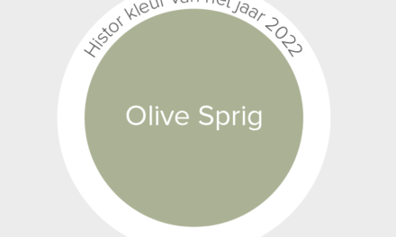 HISTOR KLEUR VAN HET JAAR 2022: 'OLIVE SPRIG'
