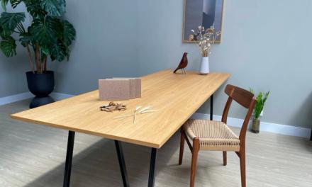 Nieuw circulair tafelblad wil de meubelmarkt veroveren